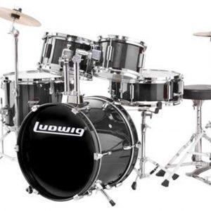 Ludwig LJR106 Junior Drum Set Black