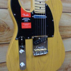 Fender® American Professional Telecaster® Left Hand Maple Fingerboard Butterscotch Blonde w/Case